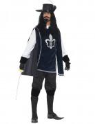 Musketier-Kostüm D`Artagnan dunkelblau-weiß