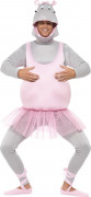Tanzendes Nilpferd Kostüm Männerballett grau-rosa