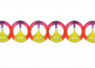 Peace Girlande Party-Deko Hippie bunt 365x15cm