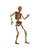 Bewegliches Skelett Halloween-Pappaufsteller beige-braun 180cm