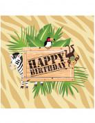 Set Servietten Safari für Geburtstag
