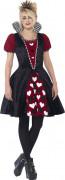 Bezaubernde Königin Märchen Teen-Kostüm schwarz-rot-weiss