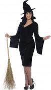 Freche Hexe Halloween Damenkostüm Plus Size schwarz