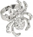 Halloween Ring Spinne verstellbar Accessoire silber 2,5 cm x 3