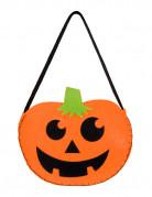 Kürbis-Tasche Süßes oder Saures Halloweentasche orange-schwarz 18x22cm