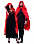 Halloween Umhang Kostumzubehör rot 120 cm