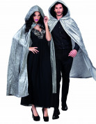Fantasy-Umhang in Samt-Optik Kostümaccessoire grau 120cm