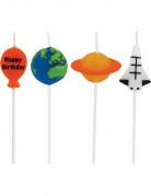 Mini-Kerzen Weltraum Partydeko bunt