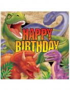 Partyservietten Dinosaurier Kindergeburtstag 16 Stück 33x33 cm