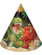 Partyhüte Dinosaurier Kindergeburtstag 8 Stück