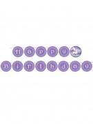 Magisches Einhorn Geburtstags-Girlande violett