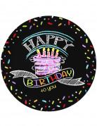 Set Teller Geburtstag für Herren
