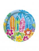 Hawaii Partyteller 8 Stück 18cm
