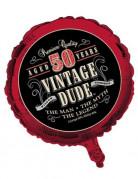 Vintage Aluminium-Luftballon 50. Geburtstag Partydeko 46cm
