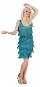 Charleston-Kostüm für Damen in tollem Türkis