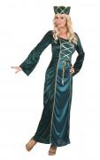 Kostüm Mittelalterliche Königin Damen grün