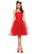 50er Rockabilly Petticoat Kleid Damenkostüm rot