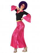 Disco-Damenkostüm Bad-Taste-Outfit pink-schwarz