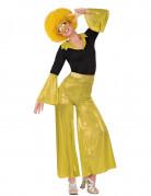 Disco-Damenkostüm gold