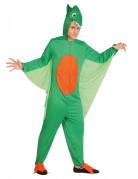 Dinosaurier-Kostüm für Männer grün-orange