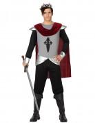 Mittelalterlicher Krieger Kostüm König schwarz-silber