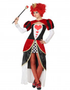 Herzkönigin Damenkostüm Märchen Plus Size schwarz-rot