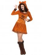 Löwinnen-Kostüm Damen gelb