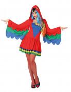 Kostüm Papagei für Damen bunt
