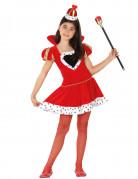 Herzkönigin-Kinderkostüm Märchenkönigin-Kostüm rot-weiss-schwarz