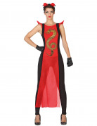 Samurai-Kriegerin - Damen-Kostüm - rot-schwarz-gold