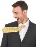 Pailletten-Krawatte Partykrawatte gold