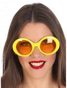 Hippiebrille gelb