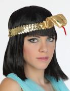 Stirnband - ägyptische Uräusschlange - golden