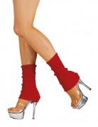 Strickstulpen Kostüm-Zubehör rot