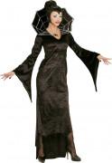 Spinnen-Vampirin Halloween Kostüm für Damen schwarz-gold