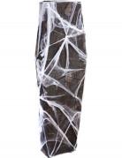 Sarg mit Spinnennetz Halloween-Deko schwarz-grau 54x160cm