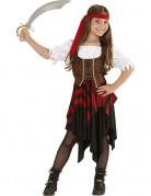 Abenteuerlustige Piratin Kinderkostüm für Mädchen bunt