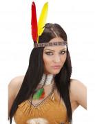 Indianer Feder-Stirnband Kostümaccessoire bunt