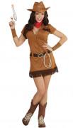Sexy Cowgirlkostüm Western-Damenkostüm braun