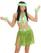 Hawaii-Kostüm Hawaiianerin grün