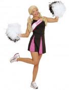 Cheerleader Kostüm für Damen in Schwarz und Rosa