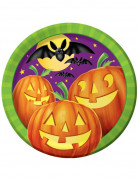 Kürbisteller Halloween-Tischdeko 8 Stück 23cm