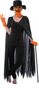 Kürbis-Kostümset Kürbismann 4-teilig schwarz-orange