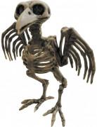 Skelett-Rabe Halloween-Dekofigur beige 21 x 18 x 14cm