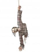 Zombie Oberkörper Halloween Hängedeko grau 92cm