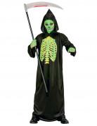 Unheimlicher Sensenmann Halloween Kinderkostüm Tod schwarz-grün