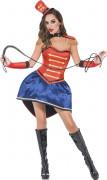 Sexy Zirkus-Direktorin Damenkostüm rot-blau