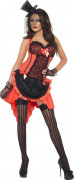 Burlesque Showgirl CanCan Damenkostüm rot-schwarz