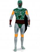 Boba Fett Second-Skin-Suit Star Wars-Kostüm weiss-grün