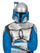 Jango Fett™ Maske Star Wars™ Filmmaske grau-blau